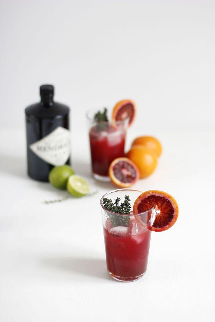 Drink: Blutorange-Thymian-Gin-Cocktail   we love handmade