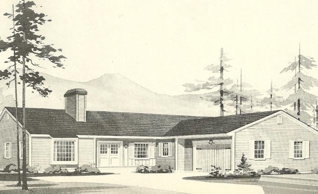 L Shaped Ranch Southwood House Plans Vintage House