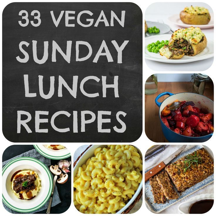 A collection of 33 of the best ideas for vegan Sunday Lunches and Roast Dinners, perfect for serving alongside roast potatoes, gravy and all the trimmings. Vegan and vegetarian.