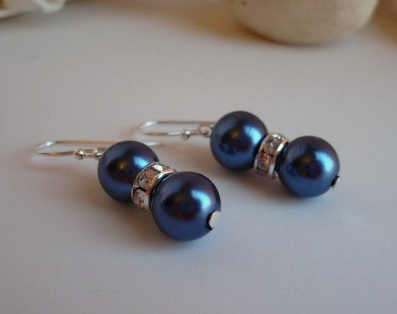 I really adore these earrings! I don't know what it is about colored pearls, but I love them!