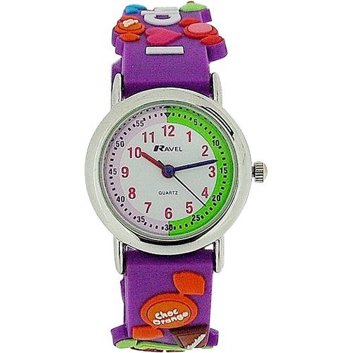 Ravel Girls Love Choclate Time Teacher 3D Purple Strap Watch R1513.51