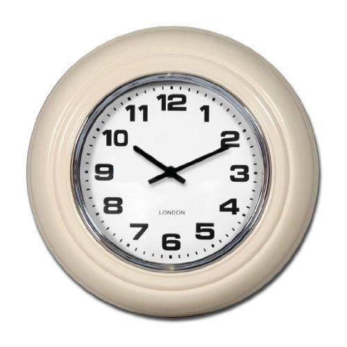 small london modern vintage cream wall clock 31cm by beaumonde httpwww
