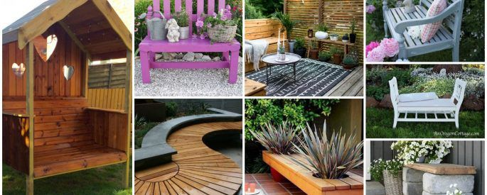 20 Pretty Awesome Diy Front Yard Benches Yard Benches Front