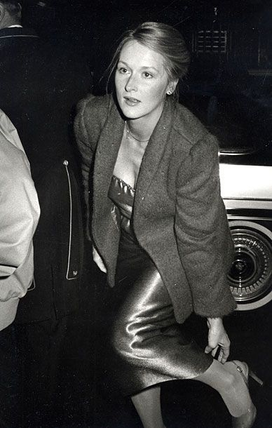 Meryl Streep, 1979  At Woody Allen's New Years Eve party in New York.