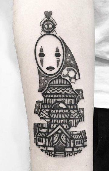 """Spirited Away """"No Face"""" Tattoo - hugotattooer"""