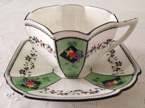 Rare Hand Painted Shelley Queen Anne Tea Cup by TheEclecticAvenue