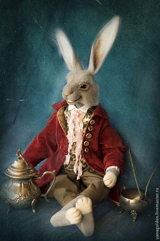 Купить Игрушка. Мартовский заяц. - бордовый, мартовский заяц, Заяц в подарок, алиса в стране чудес