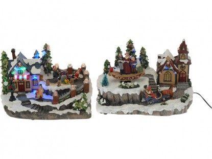 Χριστουγεννιάτικο σκηνικό με κίνηση 2σχ