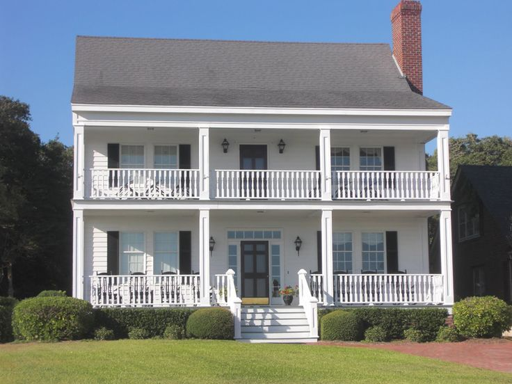 Plan 32460WP: Southern Home Plan with Stacked Porches | Porch ...