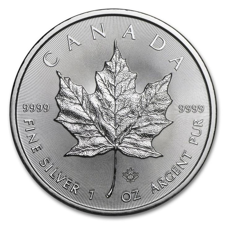 1 oz 2015 Canadian Maple Leaf $5 Silver Coin 9999 Obverse