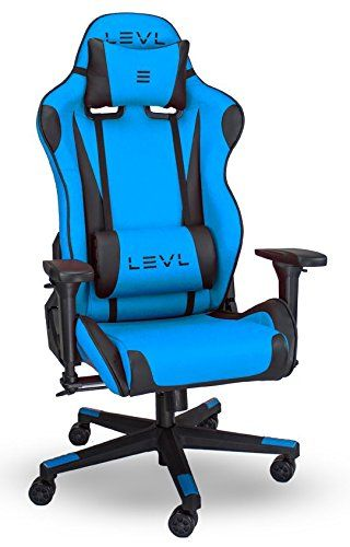 Heavy Duty Gaming Chair John Lewis Armchair Covers Levl Alpha Series S Office With Neck And Lumbar Pillows Black Blue Small Safes
