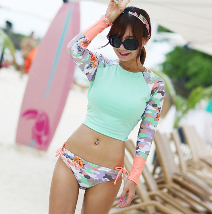 $18.70 (Buy here: https://alitems.com/g/1e8d114494ebda23ff8b16525dc3e8/?i=5&ulp=https%3A%2F%2Fwww.aliexpress.com%2Fitem%2FHot-New-2016-South-Korean-Fashion-Camouflage-Long-Sleeve-Bikini-Girl-Sexy-Backless-Triangle-Split-Swimsuit%2F32686770186.html ) Hot New 2016 South Korean Camouflage Long Sleeve Bikini Girl Sexy Backless Triangle Split Swimsuit Female for just $18.70