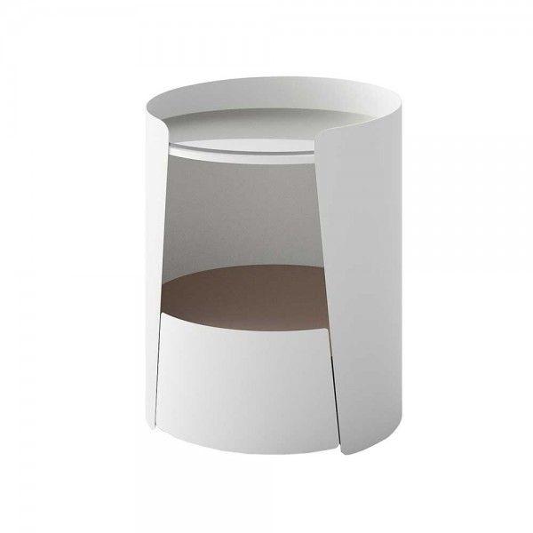 Design Beistelltisch Dunyeta in Weiß Taupe | Pharao24.de