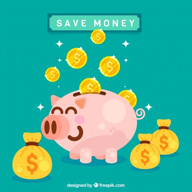 Funny Piggy Bank With Money Bags And Coi Free Vector Freepik