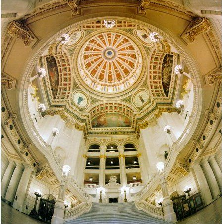 Such a beautiful building - where I spend most of my days. The PA State Capitol Building