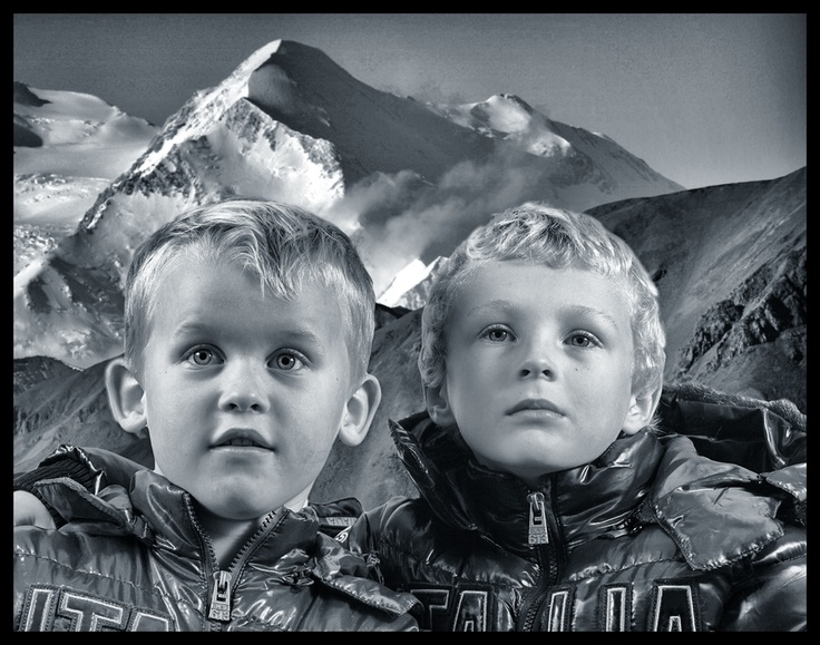 Boys in the Alps