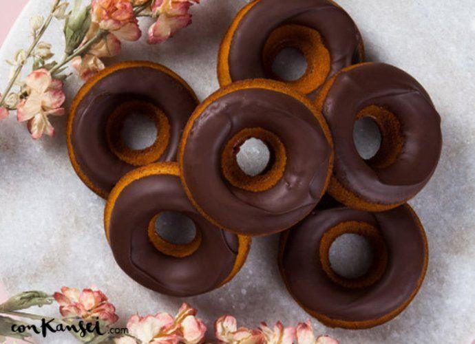 Donuts de calabaza y especias al horno para #Mycook http://www.mycook.es/cocina/receta/donuts-de-calabaza-y-especias-al-horno
