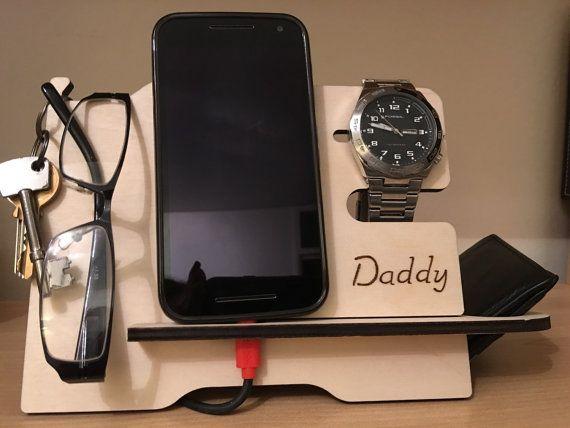 Hombres valet stand para billetera teléfono anteojos reloj | Etsy