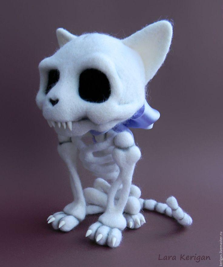 Купить Кладбище домашних животных. Котик Пушок - белый, скелет, жуть, череп, Стивен Кинг