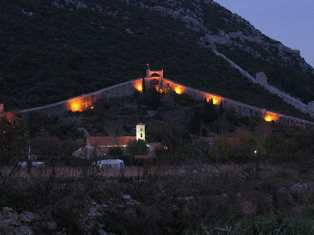 The Walls of Ston are a series of defensive stone walls situated on the peninsula Peljesac in southern Croatia