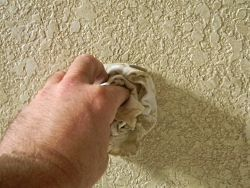 Applying a color wash glaze to knock down texture wall for How to sponge paint a wall without glaze