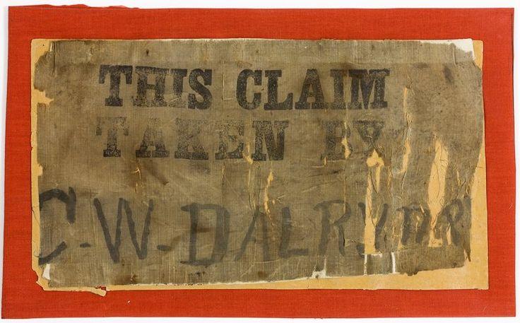 Oklahoma Land Rush Claim Sign (1889)