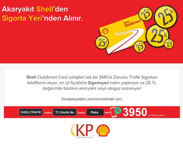 Shell / Yulaflı istasyonumuzda Shell ClubSmart Card'lılara özel 25TL değerinde puan kazanma teklifimiz var! Shell ClubSmart Card'lılar sadece bir SMS'le zorunlu trafik sigortalarını Sigortayeri'nden yaptırıyor, 25 TL değerinde bedava yakıt kazanıyor! Bekleriz. http://kardeslerpetrol.com.tr/shellharita.htm