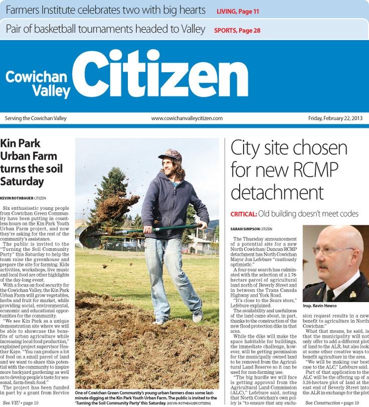 Citizen Front Page Feb. 22, 2013