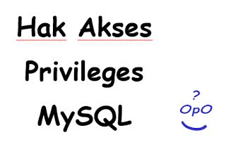 Memahami berberapa hak akses atau privileges yang terdapat pada mysql