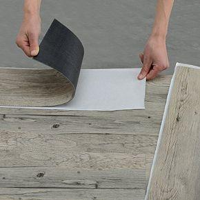 Superb  neu holz Vinyl Laminat m Selbstklebend Eiche grau