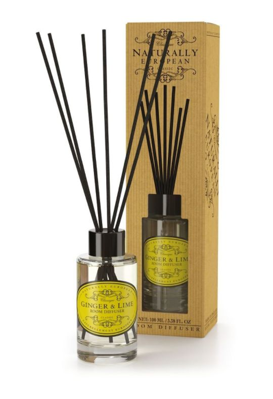 Wonderfully Fragranced Diffusers - Ginger & Lime - A seriously great quality diffuser which subtly but definitely fragrances your room. The use of essential oils ensures a clean and natural fragrance.  Ginger and lime a combined to create a warming, uplifting scent. Taking inspiration from Southern Spain Ginger & Lime creates the perfect balance of heat and freshness.  100ml
