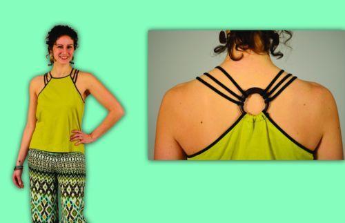 Handmade-Triple-Strap-Green-Knit-Top