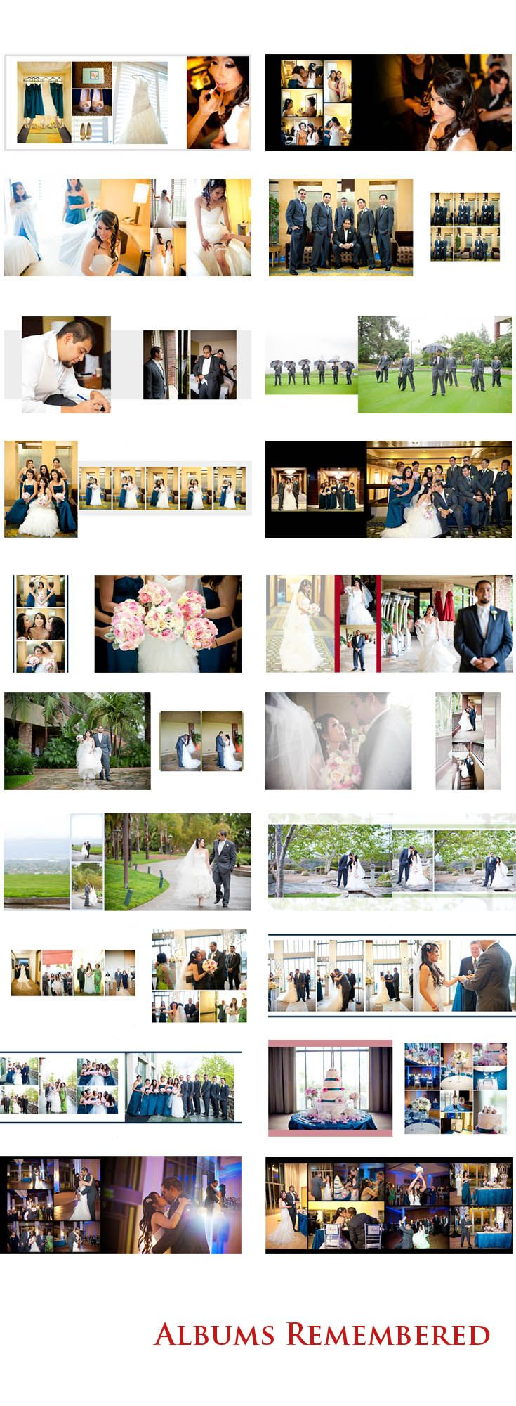 http://www.albumsremembered.com/ Free #wedding #album #design service by Albums Remembered