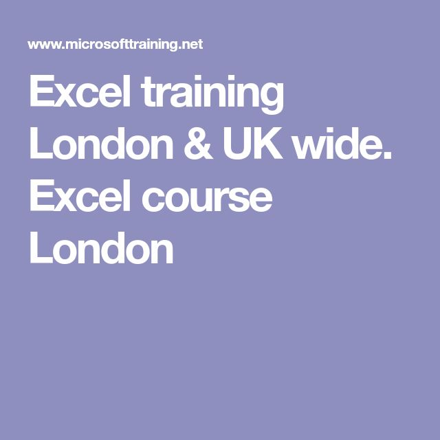 Excel training London & UK wide. Excel course London
