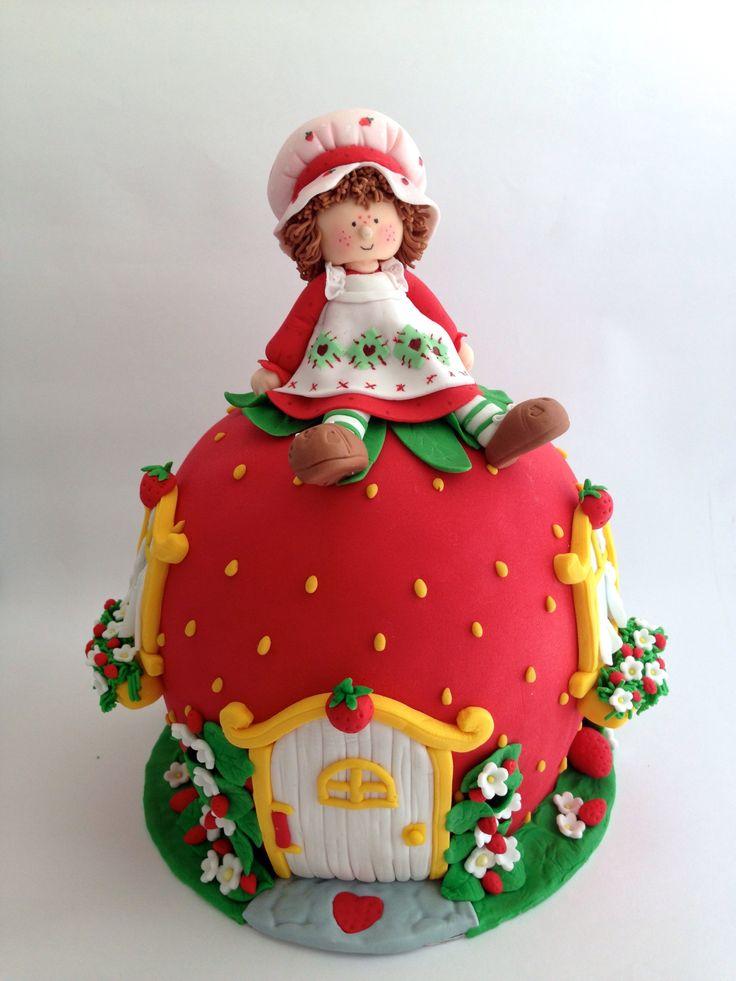 Strawberry Shortcake cake topper (con imágenes) | Tortas ...