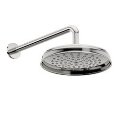 Winchester traditional shower head 200mm and curved round wall arm