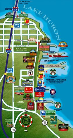 #puremichigan  map of Mackinaw City