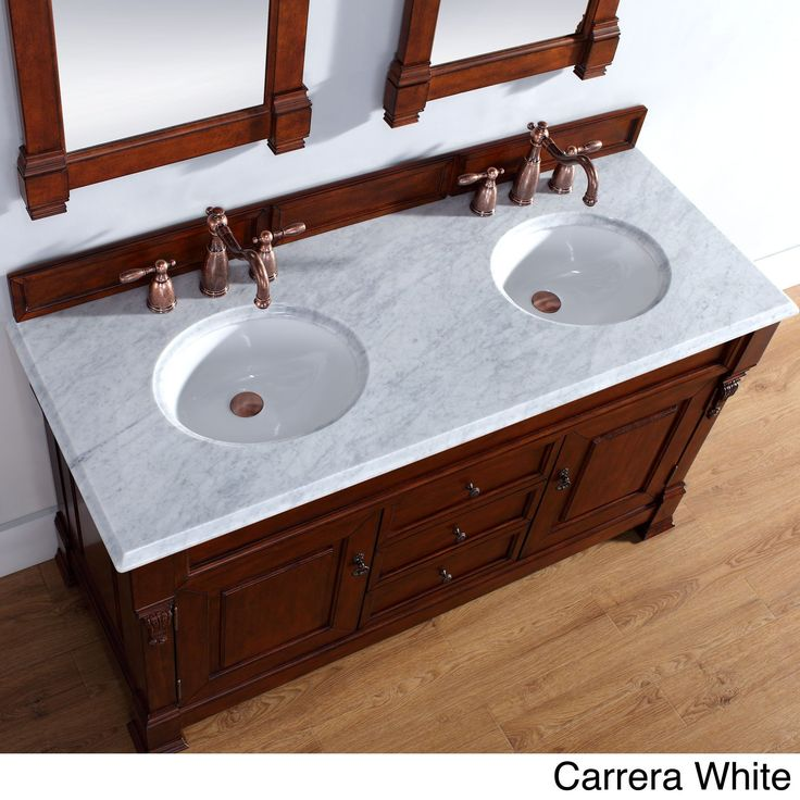 James Martin Furniture 60-inch Brookfield Warm Cherry Double Vanity