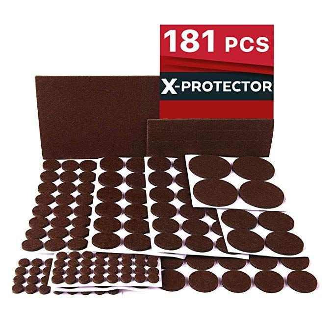 X Protector Premium Ultra Large Pack Felt Furniture Pads 181 Piece Felt Pads Furniture Feet All Sizes Felt Furniture Pads Furniture Pads Best Wood Flooring