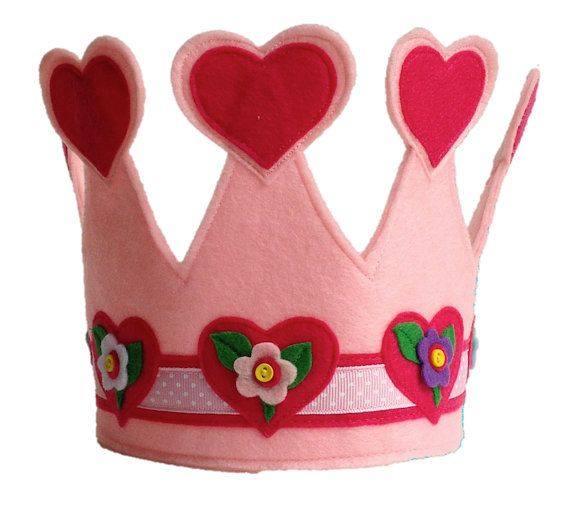 The Queen of Hearts Crown Pastel by themerrycrownsociety on Etsy, $20.00
