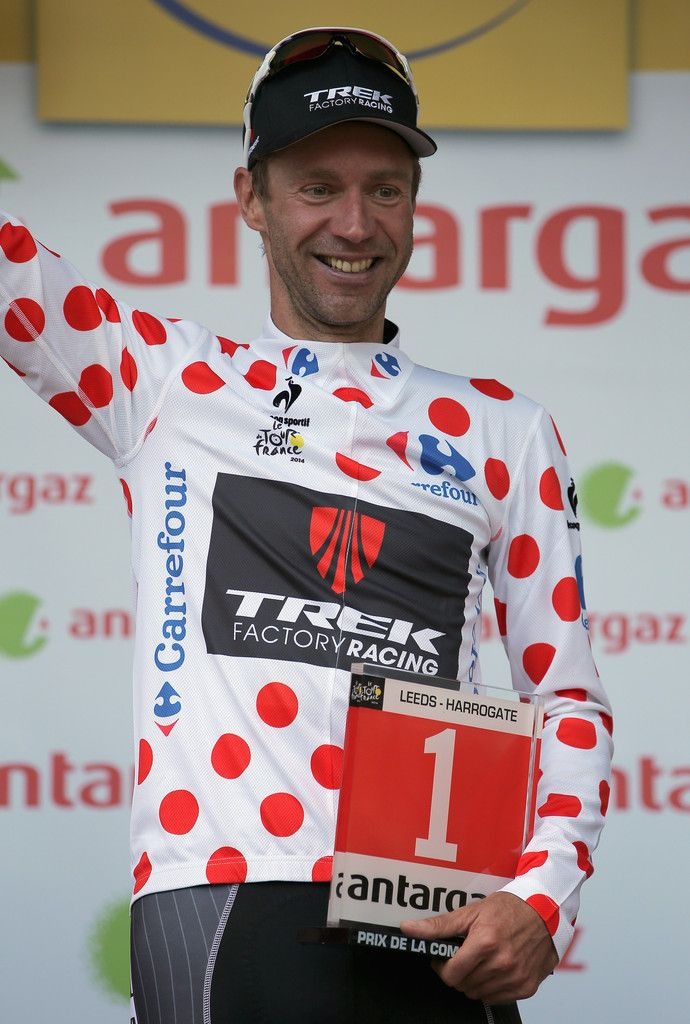 Tdf 2014 - 1 : Jens Voigt (Germany/Trek F.R.), the most aggressive rider of the day.