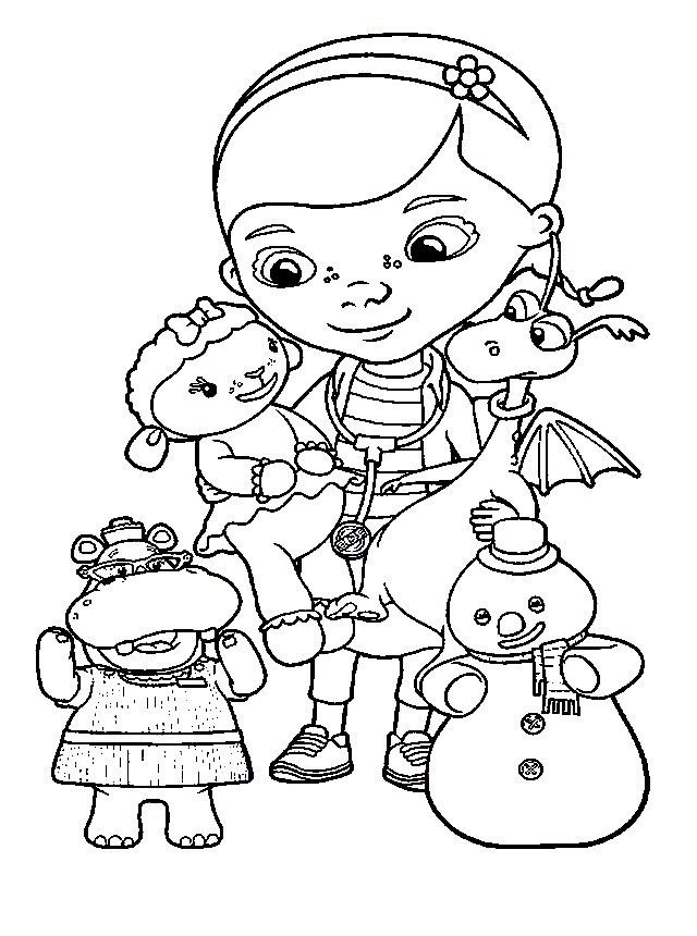 coloring pages for kids doc mcstuffins kopi fixed cricut toys coloring ...