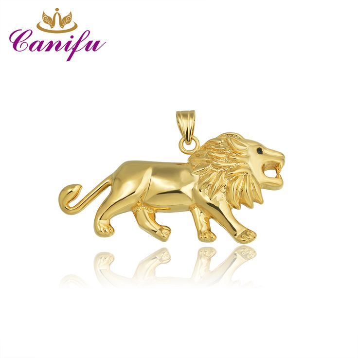 Canifu Hot sale New arrival Gold Color  Pendant Lion Shape Unique Elegant Pendants for man factory price