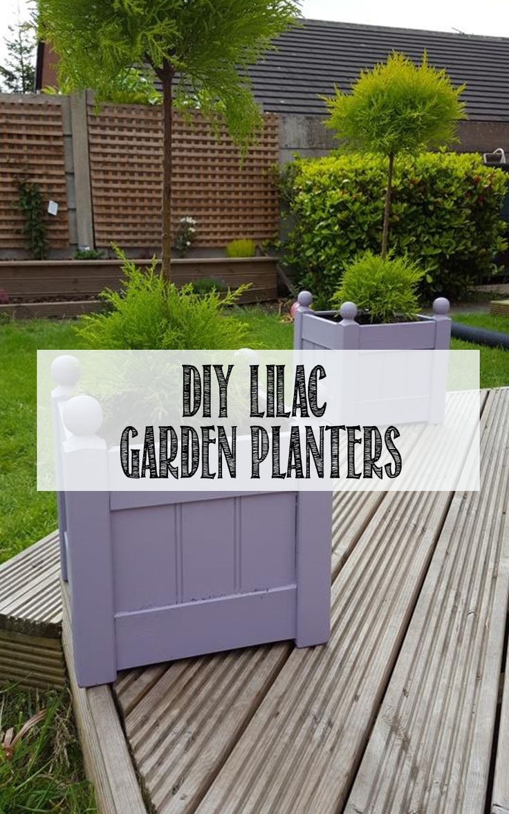 How to add colour to your garden using Valspar's Dusty Lilac on our wooden planters. This DIY only took 30 minutes and is the perfect pastel colour for any family garden. Click through to see step-by-step!