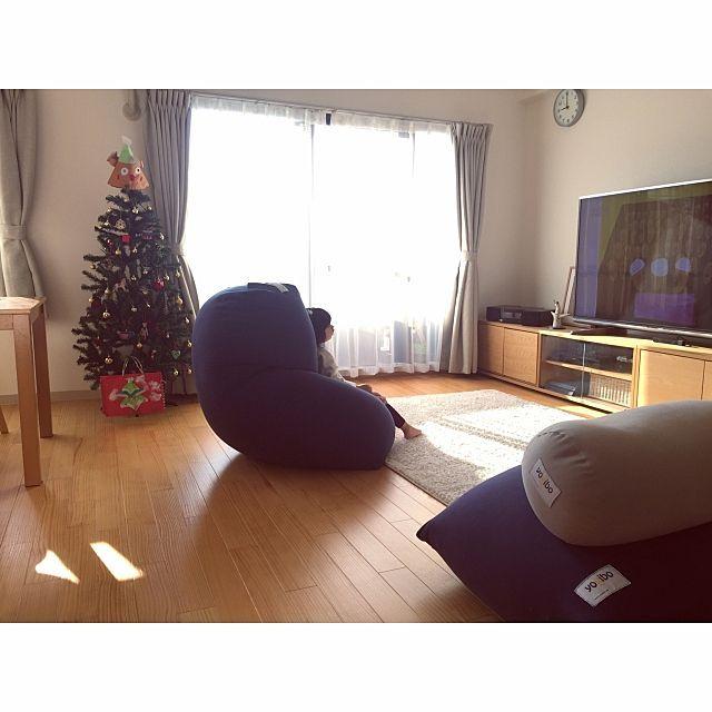 リビング クリスマスツリー 人をダメにするソファ ソファ Yogibo などのインテリア実例 2016 12 08 10 10 40 Roomclip ルームクリップ ヨギボー リビング インテリア