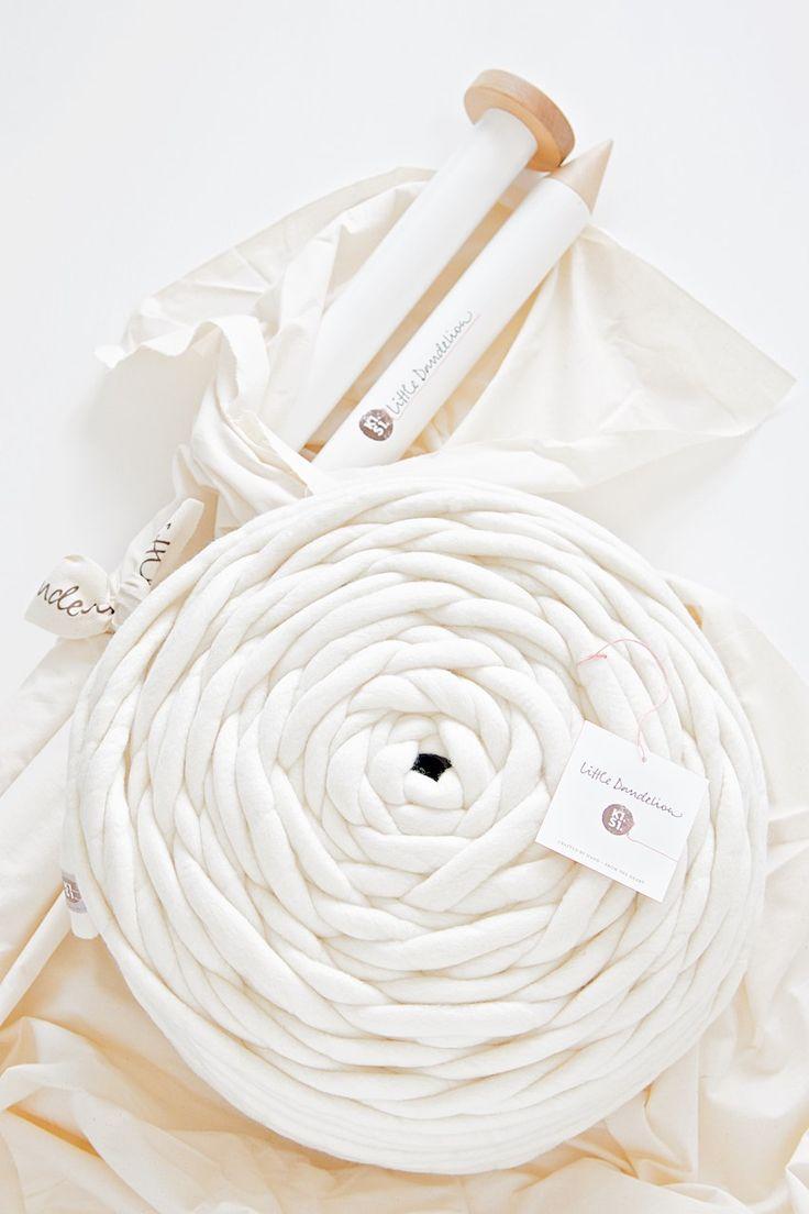 creamy neutral knitting wool