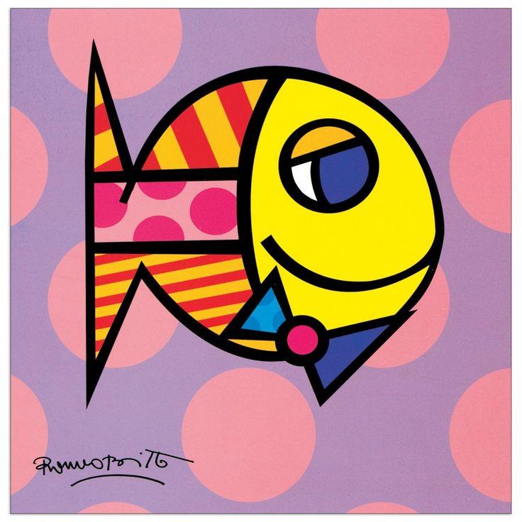 BRITTO - Striped fish 19x19 cm #artprints #interior #design #art #print #animals  Scopri Descrizione e Prezzo http://www.artopweb.com/EC18437