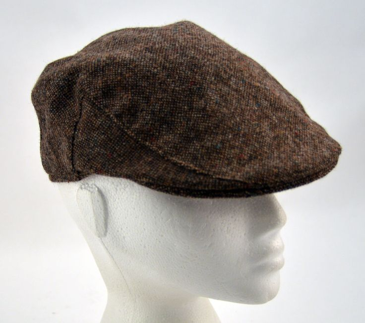 Mens Ladies Brown and Beige Failsworth Tweed Flat Cap Lined Clearance UK55cm