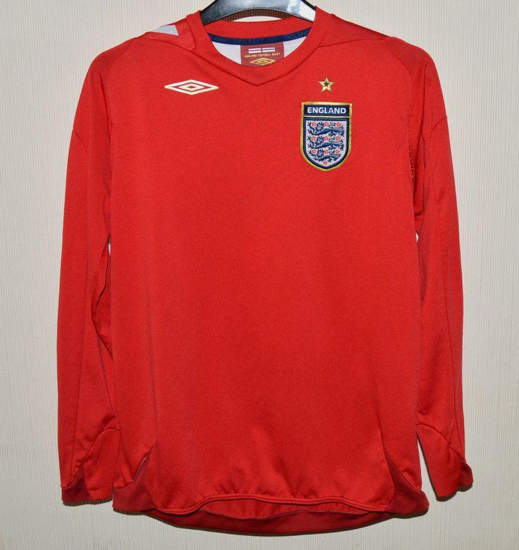 Umbro Official England Football Shirt XL Boys Long Sleeve Red 158cm Age 13/14