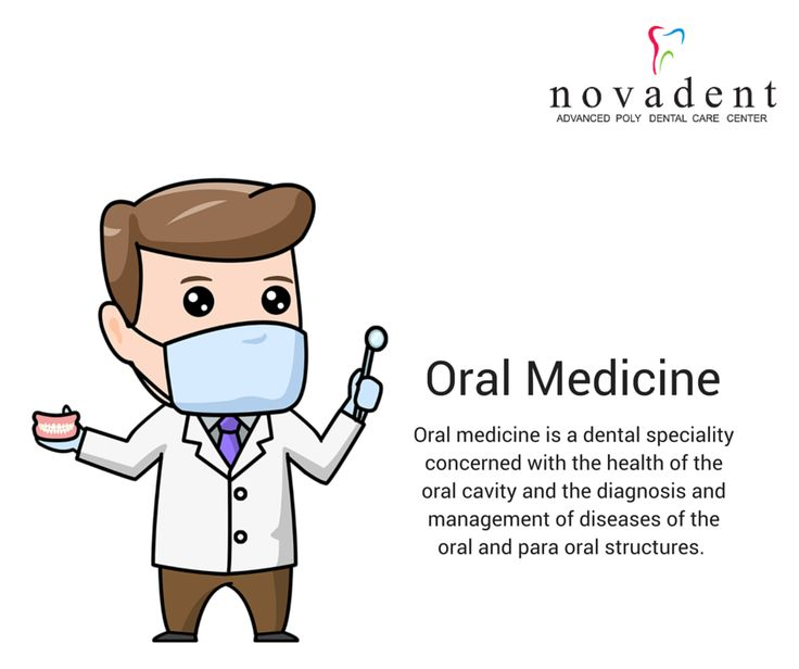 Oral Medicine Oral medicine is a dental speciality concerned with the health of the oral cavity and the diagnosis and management of diseases of the oral and para oral structures. Oral Medicine includes the diagnosis and medical management of diseases specific to the orofacial tissues and of oral manifestations of systemic diseases. It further includes the management of behavioral disorders and the oral and dental treatment of medically compromised patients. http://www.novadenttly.com/